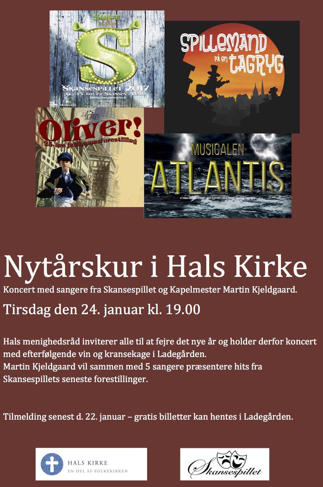 Skansespillet - Nytårskoncert i Hals Kirke