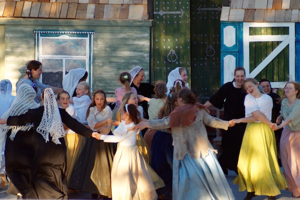 Sommerspil 2015 Hals Musical Spillemand på en tagryg