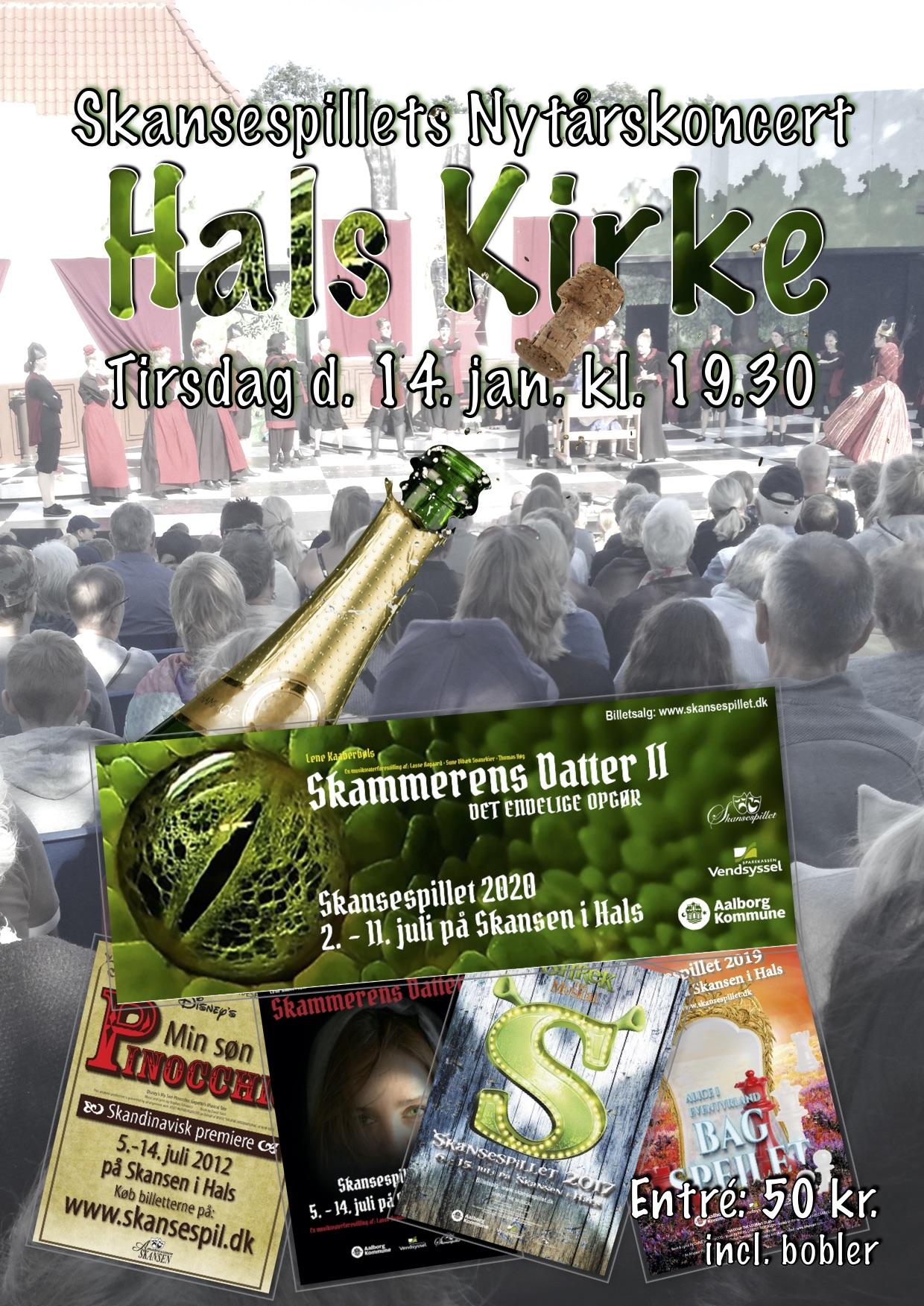 20-01-14 Hals Kirke - Skansespillets nytårskoncert plakat